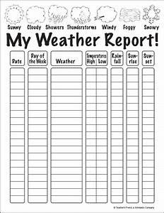 Printable Charts And Graphs My Weather Report Worksheet Printables Scholastic