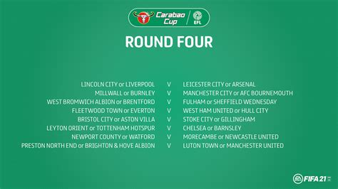 Carabao Cup: Round Four draw confirmed - News - EFL ...