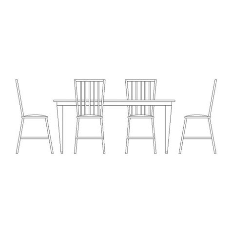 free cad block of dining table and chairs cadblocksfree