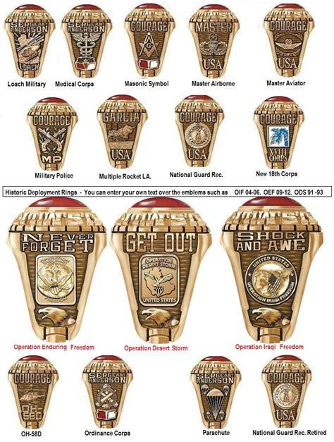 army emblems emblems  army rings custom military rings