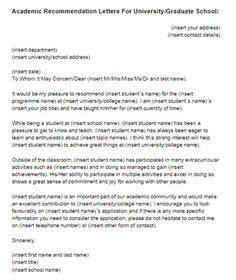 recommendation letter  letter  recommendation