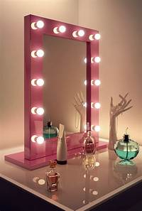 dressing room mirrors Pink Hollywood Makeup Dressing Room Mirror with Cool White LED lamps k153CW | eBay