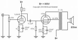 single ended se kt88 tube amplifier schematic with 6n1p With tube amp circuit