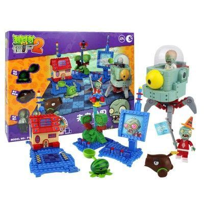 plants  zombies lego compatible building blocks shooting