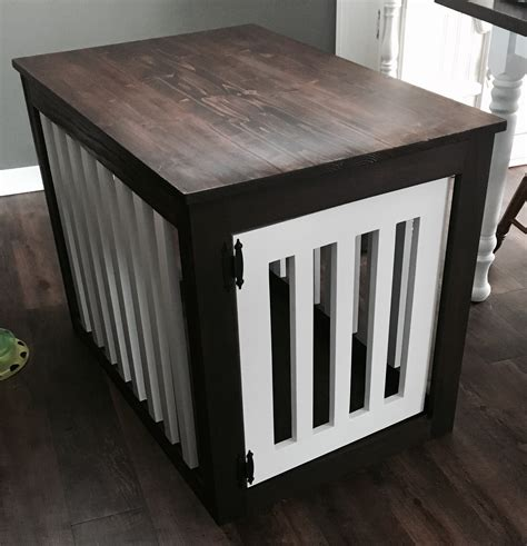 ana white wood dog crate  table diy projects