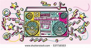 Boom Box Graffiti Style Stock Vector 338541821 - Shutterstock