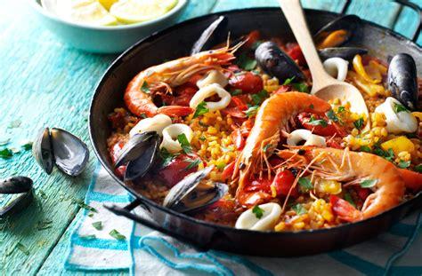 cuisine paella seafood paella recipe dishmaps