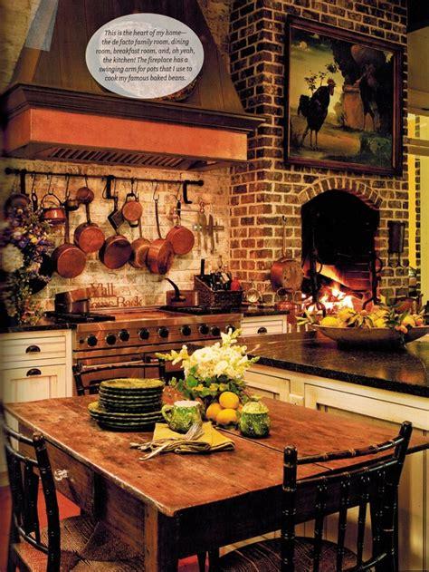 kitchen with fireplace designs paula deen s style by paula deen 6510
