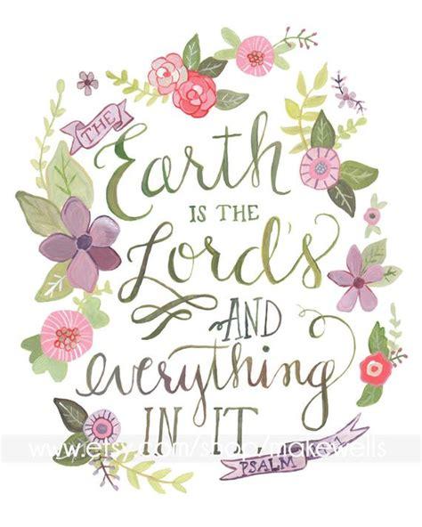 pinterest christmas scripture art psalm 24 1 etsy