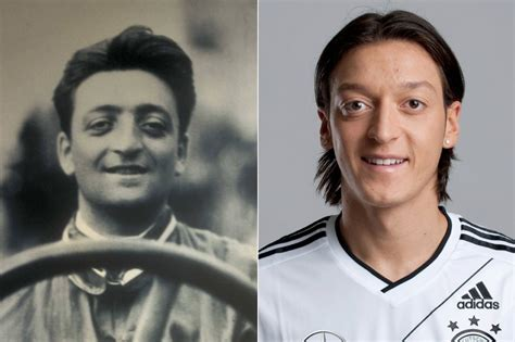 By athena aug 19, 2016, 2:38 am comments off on enzo ferrari and mesut ozil 2. 38 Celebrities And Their Lookalikes From History - Ritely
