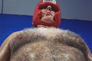 Hairy fat man wallpaper