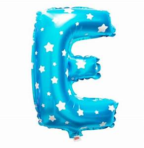 Cheap blue letter e balloon with dots 16 inch foil letter for Blue letter balloons