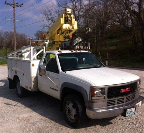 how to work on cars 1996 chevrolet g series 2500 engine control buy used 1996 chevy 3500 bucket truck work truck bins in boonville missouri united