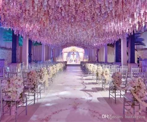 romantic artificial flowers simulation wisteria vine