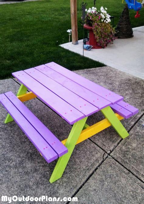 diy simple kids picnic table myoutdoorplans