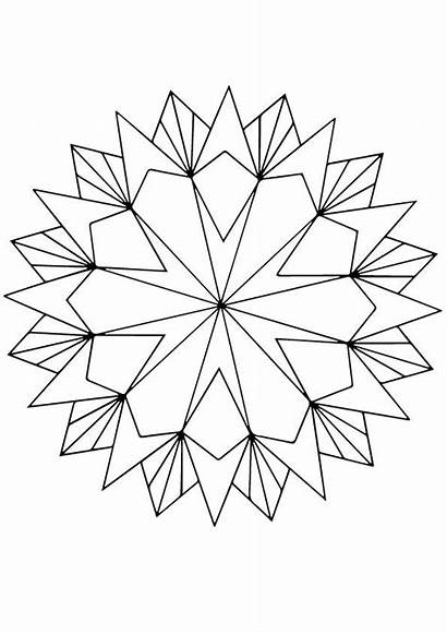 Geometric Coloring Shape Pattern Geometrie Patterns Ausmalbilder