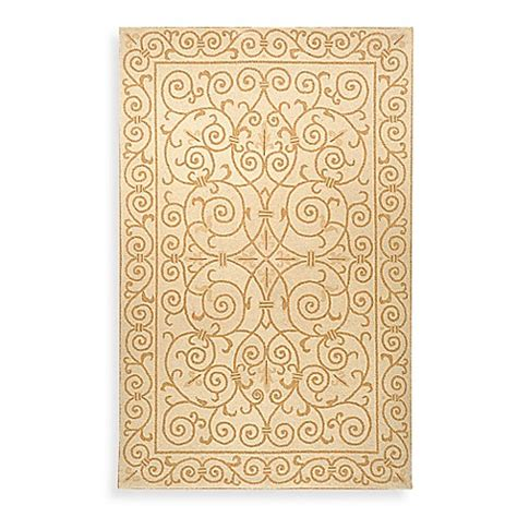 safavieh chelsea ivory  gold wool accent rugs bed bath