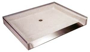 Solid Surface Shower Tray by 60 Quot X 48 Quot Rectangular Terrazzo Wheelchair Accessible Not