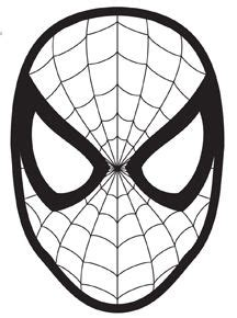 elf   shelf spider man mask  printable mask