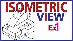 Hindi  Isometric Projection Example 1  Engineering