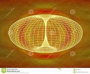 Wormhole Diagram Stock Image