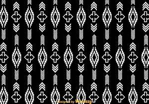 White Aztec Pattern On Black - Download Free Vector Art ...