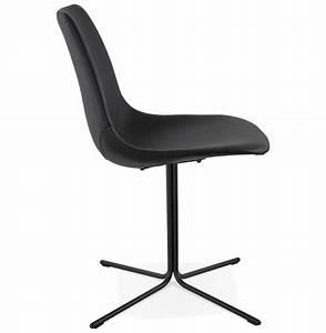 Chaise Pied Metal Noir : chaise design olala noire style industriel ~ Teatrodelosmanantiales.com Idées de Décoration