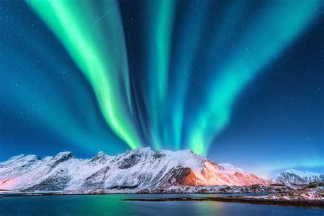 aurora lights northern lofoten borealis norway iceland islands boreale creativemarket voyage tempat islande aktiviti norvegia isole menarik gulfoss waterfalls snowy