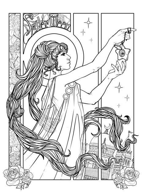 """The Star"" Sailor Moon Art Nouveau Tarot Card Final"