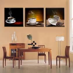 wall painting ideas for kitchen wall designs kitchen wall unframed 3panel reto coffee beans and coffee tea print