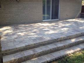 Patio Steps with Pavers
