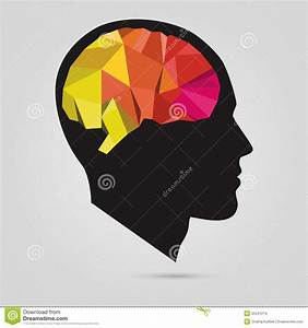 The Silhouette Of A Man's Head With Abstract Brain. Vector ...