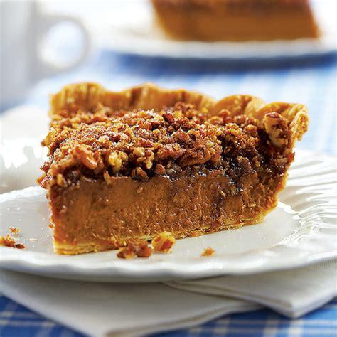 Pumpkin Praline Pie Recipe pumpkin pecan pie recipe popsugar food