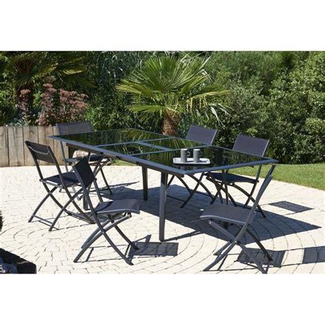 chaises de jardin pliantes ensemble table extensible de jardin 180 240 cm 6