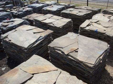flat flagstone flagstone classic rock stone yard