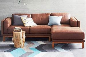 austin leather sofa pottery barn furniture galleries With pottery barn style sectional sofa