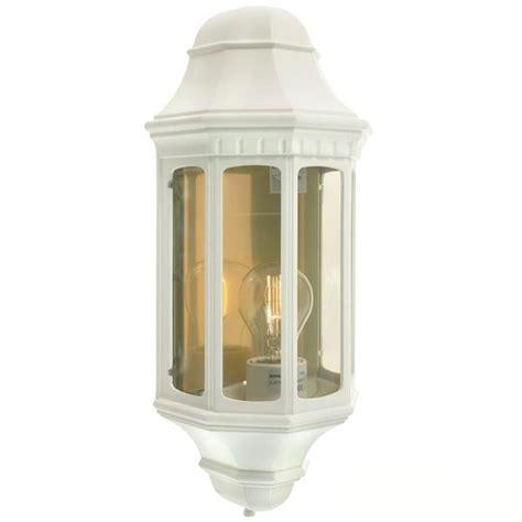 elstead malaga flush outdoor wall light lantern white