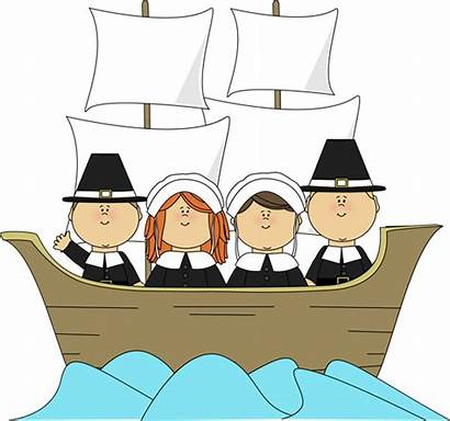 Mayflower Pilgrims Clip Thanksgiving Pilgrim Graphics Aboard