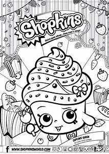 Shopkins Ausmalbilder Cupcake Queen Malen Ausmalbilder