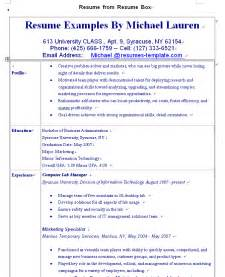 exle of a resume resume exles to make your resume powerfulbusinessprocess