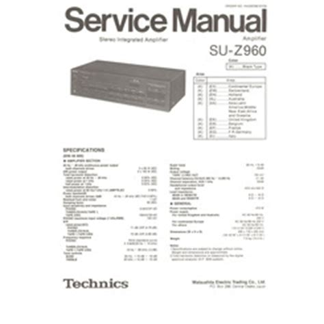 Visonik Wiring Diagram by Su Z960 Technics Service Manual Highqualitymanuals