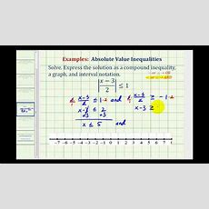 Ex 5 Solve And Graph Absolute Value Inequalities Involving Fractions Youtube