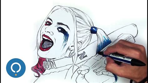 harley quinn disegno passo  passo youtube