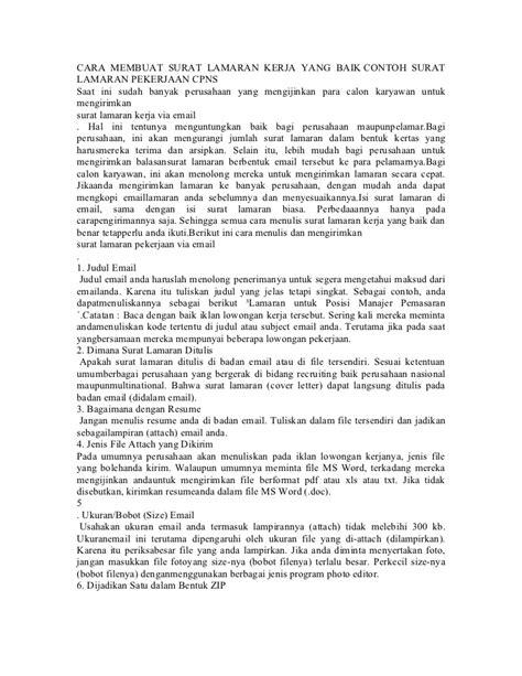 Contoh Cover Letter Resume Email by Contoh Cover Letter Untuk Cari Kerja Contoh U