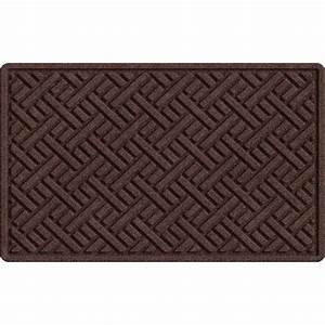 Trafficmaster textures plush parquet brown 24 in x 36 in for Parquet mat