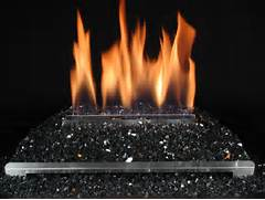 Fireplaces With Glass Rocks VF FireGlitter San Francisco Bay Area CA The Fireplace Element
