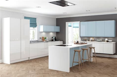 blue gloss kitchen cabinets gloss kitchens 4811