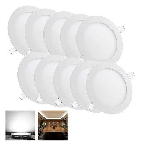 10 pack 9w recessed led panel light ceiling