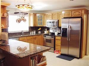 honey oak kitchen cabinets design ideas 2021