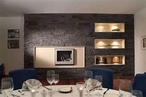 Steinwand Wohnzimmer Tv : steinwand wohnzimmer modern steinwand im wohnzimmer wanddeko mit verblendsteinen steinwand ~ Bigdaddyawards.com Haus und Dekorationen